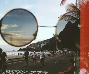 beach, indie, and sunglasses image