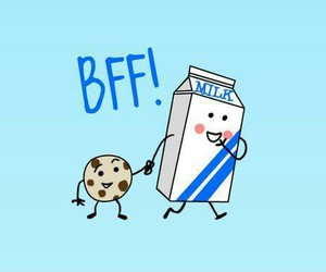 bff, milk, and cookie image