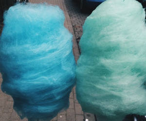 blue, food, and cotton candy image
