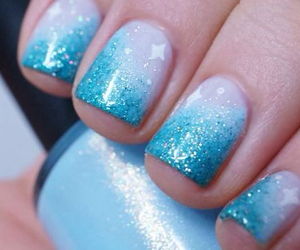 manicure, nails, and frozen image