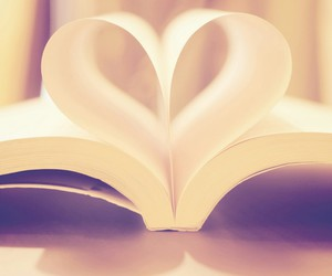book, bookcase, and heart image
