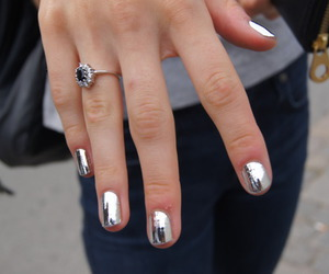 nails, ring, and silver image