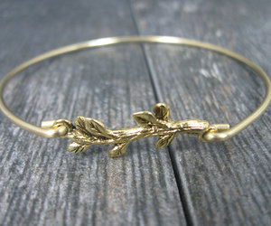 branch, gold jewelry, and gold bracelet image