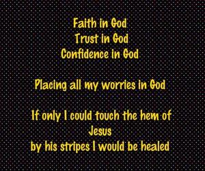 faith, worries, and god image