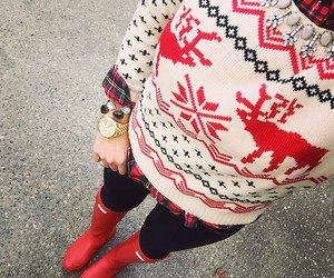 fashion, christmas, and sweater image
