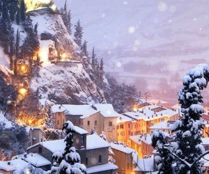 winter, snow, and italy image