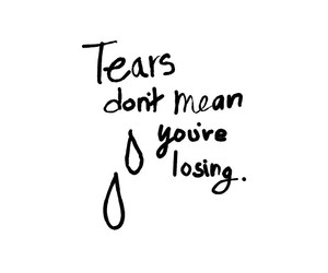 black and white and tears image