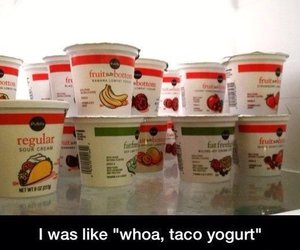 funny, food, and yogurt image