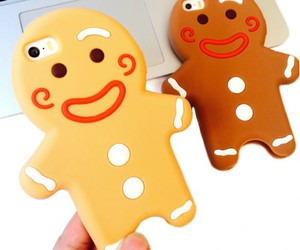 gingerbread man, phone case, and iphone 6 image