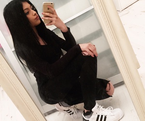 adidas, black and white, and outfit image