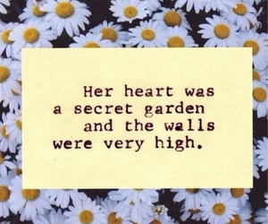 flowers, garden, and heart image