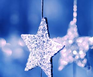 stars, glitter, and christmas image