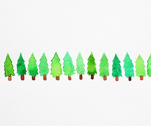 green, tree, and christmas image