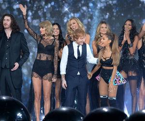 Taylor Swift, ariana grande, and ed sheeran image