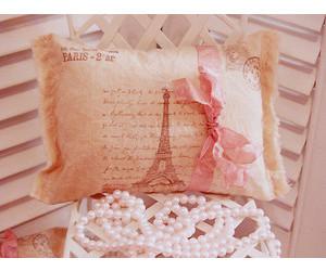 paris, pillow, and pink image