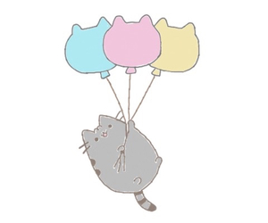 balloons, cat, and tumblr image