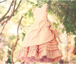 dress, pink, and tree image