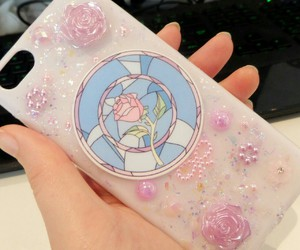 rose, case, and pink image