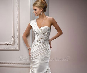 wedding dress, wedding, and bridal image
