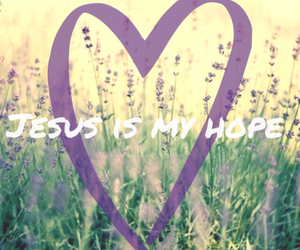 flowers, jesus, and hope image