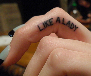 tattoo, lady, and fingers image
