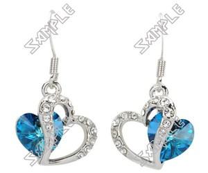 earrings, heart, and christmas gift image