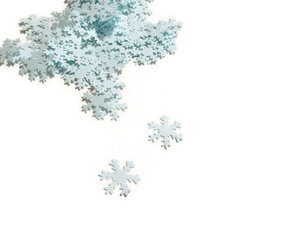 blue, christmas, and confetti image
