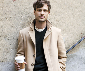 matthew gray gubler, criminal minds, and coffee image