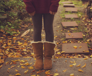 autumn, fashion, and leaves image
