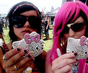audrey kitching, hello kitty, and hanna beth image