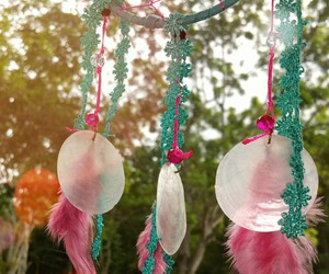 dreamcatcher, dreams, and pink image