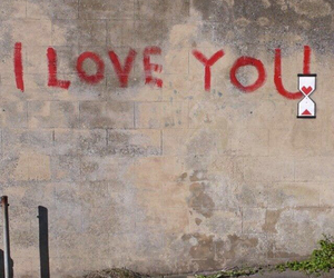 love, BANKSY, and I Love You image
