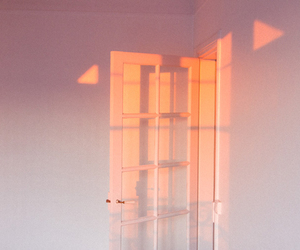 door, sunset, and light image