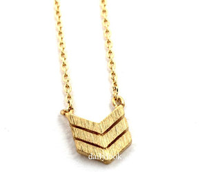 chevron, triangle, and woman necklace image