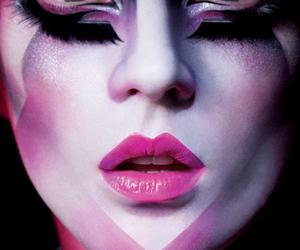 eyelashes, eyes, and face paint image