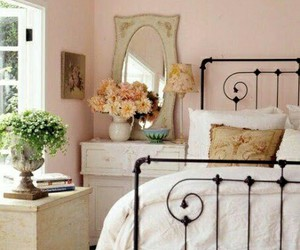 bedroom, country living, and interiors image