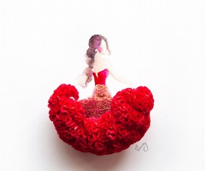 flowers, dress, and red image
