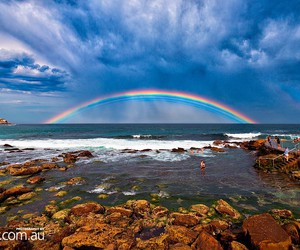 australia and rainbow image