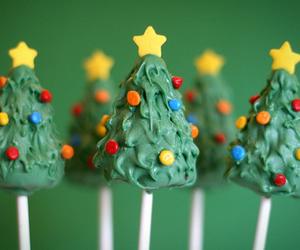 christmas, cake pops, and tree image