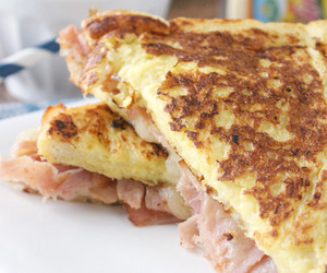 cheese, sandwich, and ham image