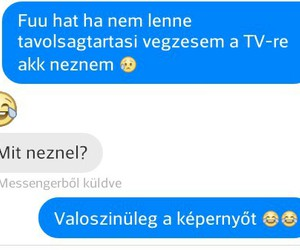 funny, messenger, and tv image