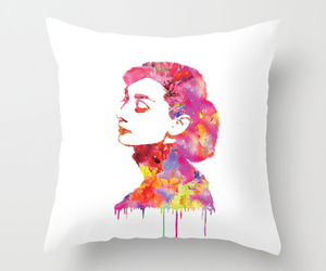 art illustration, audrey, and bed image