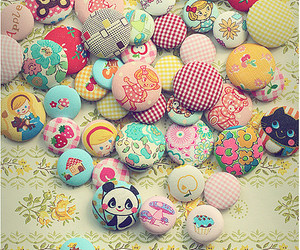 cute and buttons image