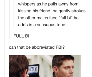 supernatural, destiel, and bi image