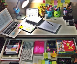 desk, school, and office image