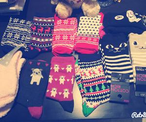 christmas, socks, and cute image