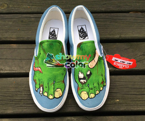 hand painted shoes, custom design shoes, and original vans shoes image