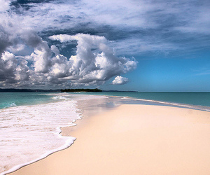 beach, clouds, and sea image