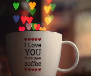 love, coffee, and cup image