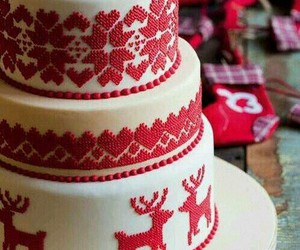 cake, christmas, and decoration image